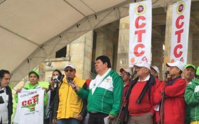 Colombianos y colombianas exigen trabajo decente al Gobierno Nacional