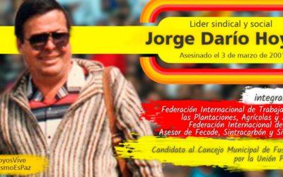 """Condenan a alias """"Martín Llanos"""" y alias """"El Patrón""""  por homicidio de sindicalista Jorge Darío Hoyos"""