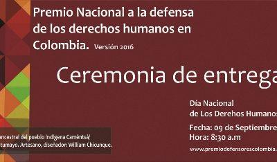 Premio Nacional a la Defensa de los Derechos Humanos en Colombia