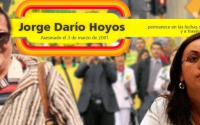 Audiencia en el juicio por desplazamiento forzado de la familia del sindicalista Jorge Darío Hoyos