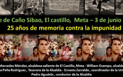 Masacre de Caño Sibao: 25 años de memoria contra la impunidad