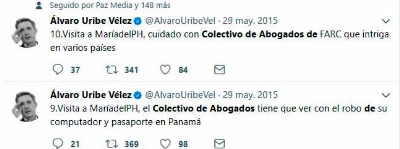 14 años de ataques de Uribe contra el Cajar