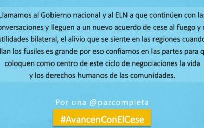 Por Arauca y los territorios #AvancenConElCese