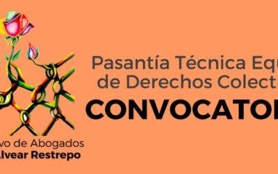Convocatoria: Pasantía Técnica Equipo de Derechos Colectivos