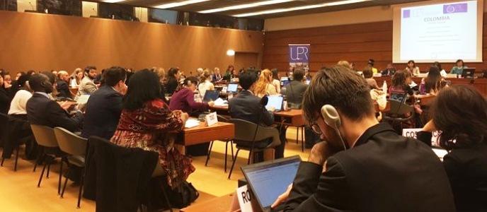 Sociedad civil colombiana presenta informe sobre situación de derechos humanos a la comunidad internacional en la ONU