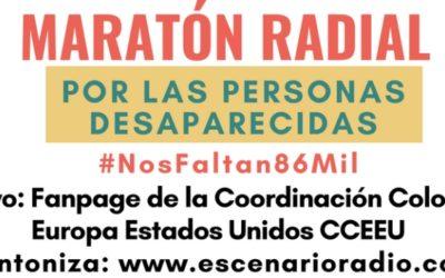 Maratón radial #NosFaltan86mil: 12 horas por las personas desaparecidas en Colombia