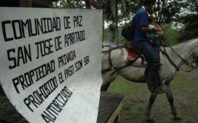 Red Europea se pronuncia frente a presencia paramilitar en la Comunidad de Paz de San José de Apartadó