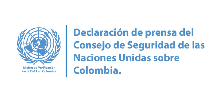 Declaración de prensa del Consejo de Seguridad de las Naciones Unidas sobre Colombia