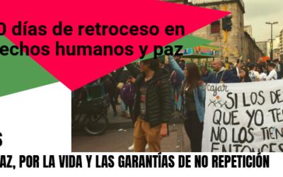 Gobierno Duque: 100 días de retroceso en derechos humanos y paz
