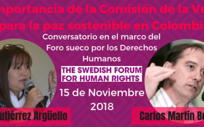 La importancia de la Comisión de la Verdad para la paz sostenible en Colombia