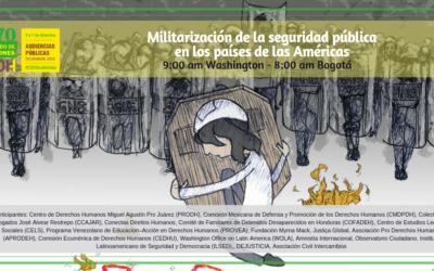 #Reviva Audiencia CIDH sobre militarización de la seguridad pública en las Américas