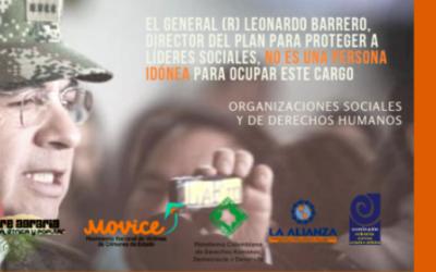 El General (R) Leonardo Barrero, director del PAO, no es una persona idónea para ocupar este cargo