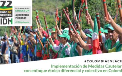 #EnVivo Audiencia Implementación de Medidas Cautelares con enfoque étnico diferencial y colectivo en Colombia