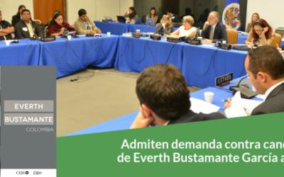 Admiten demanda contra candidatura   de Everth Bustamante García a la CIDH