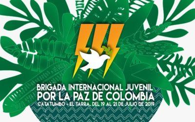 III Brigada Internacional Juvenil por la paz de Colombia  El Tarra, Catatumbo, 19 al 21 de Julio de 2019