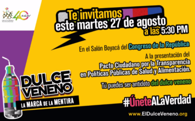 #ÚneteALaVerdad 'Dulce Veneno', campaña para rechazar la interferencia de la industria en políticas de salud y alimentación
