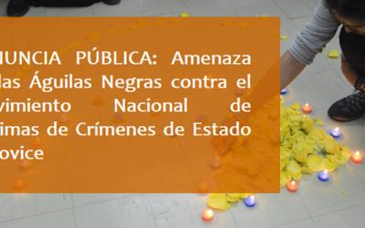 Denuncia pública: Amenaza de las Águilas Negras contra el Movimiento Nacional de Crimenes de Estado – MOVICE