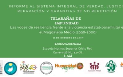 Víctimas del Magdalena Medio presentan informe sobre fuerza pública y paramilitarismo
