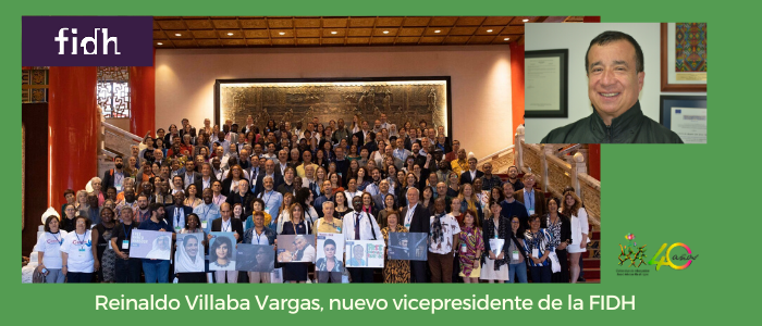 Reinaldo Villaba Vargas nuevo vicepresidente de la Federación Internacional de Derechos Humanos