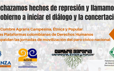 Rechazamos hechos de represión y llamamos al gobierno a iniciar el diálogo y la concertación