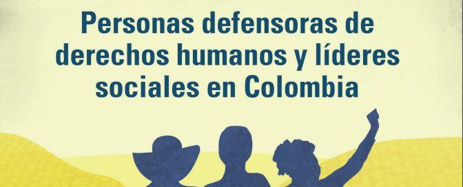 CIDH presenta el Informe sobre la Situación de Personas Defensoras de Derechos Humanos y Líderes Sociales en Colombia