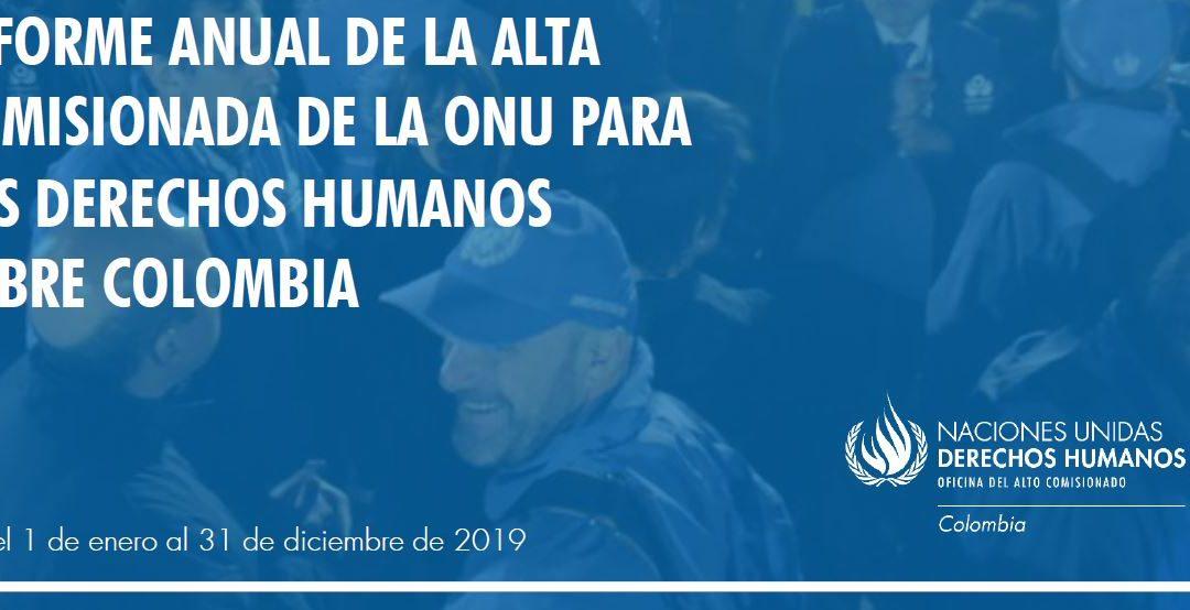Alta Comisionada de las Naciones Unidas para los Derechos Humanos sobre Colombia 2019
