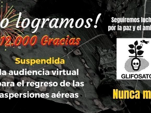 Suspendan audiencia virtual para regreso del Glifosato