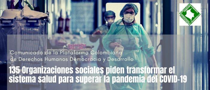 135 Organizaciones sociales piden transformar el sistema salud para superar la pandemia del COVID-19