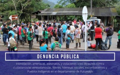 En Putumayo, armados amenazan con asesinar a personas con COVID-19