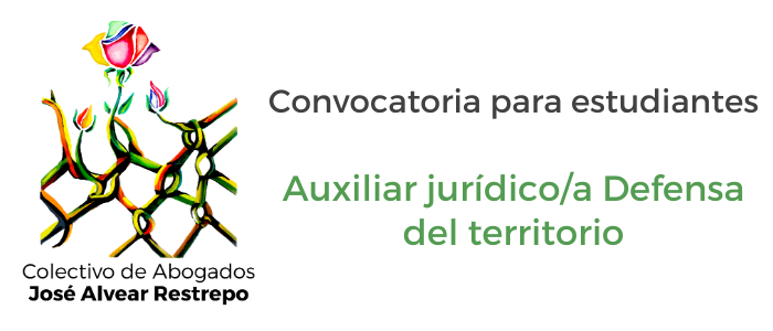 Convocatoria auxiliar jurídico con énfasis en derecho ambiental