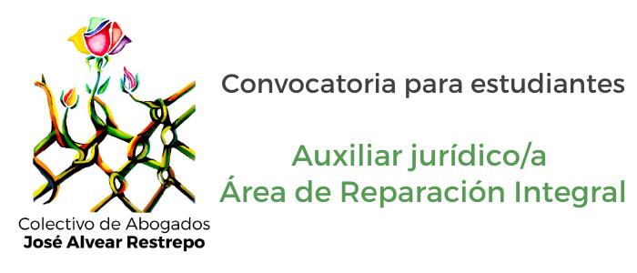Convocatoria auxiliar jurídico para el Área de Reparación Integral