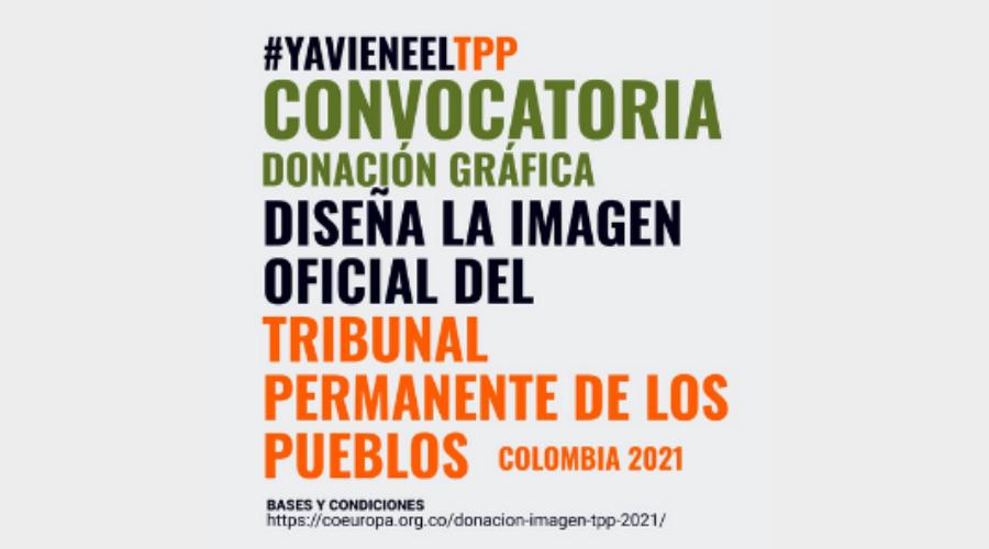 Diseña la imagen oficial de la sesión del Tribunal Permanente de los Pueblos -TPP- en Colombia 2021