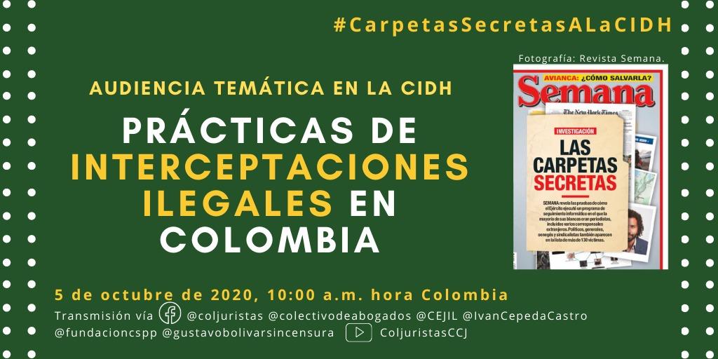 CIDH Convoca audiencia sobre inteligencia ilegal en Colombia
