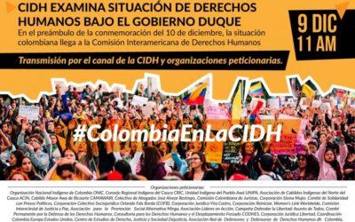 Organizaciones de la sociedad civil pedimos a la CIDH una visita oficial a Colombia