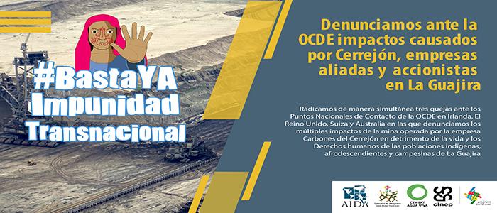 Denunciamos ante la OCDE daños causados por Cerrejón, empresas aliadas y accionistas en La Guajira
