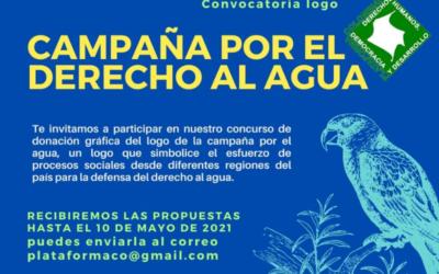 Invitación para participar en el concurso para la elección del logo oficial de la Campaña Nacional por el Derecho al Agua en Colombia.