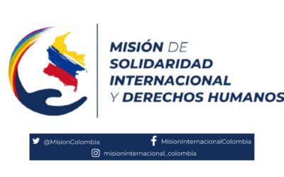 La Misión Internacional de Solidaridad y Observación de Derechos Humanos viaja a Colombia este martes 25 de mayo.