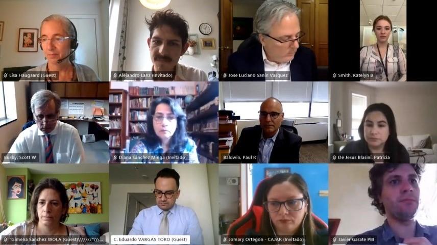 Movimiento de Derechos Humanos colombiano se reúne con el Departamento de Estado de Estados Unidos