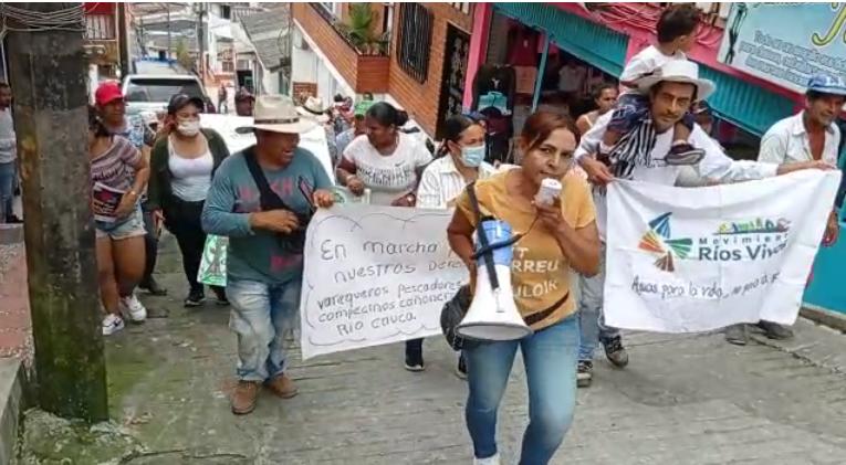 Balance de la Jornada de movilización del Movimiento Ríos Vivos Colombia
