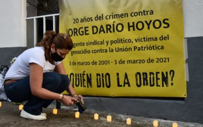 Fiscalía declara de lesa humanidad el asesinato contra el sindicalista Jorge Darío Hoyos