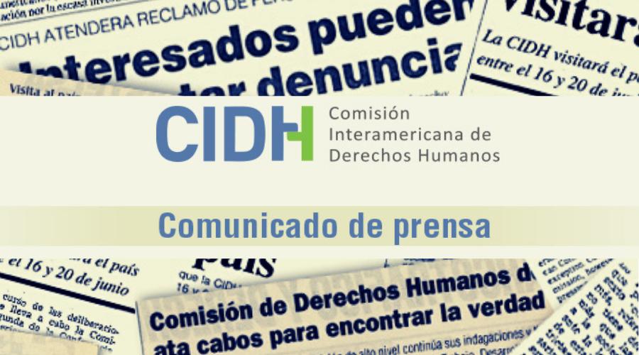 La CIDH anuncia visita de trabajo a Colombia en el contexto de las protestas sociales