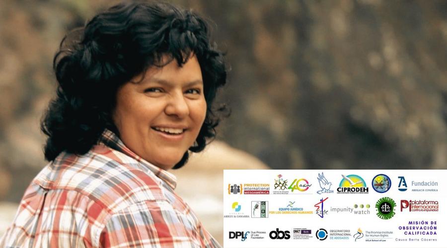 Expertos exigen fallo justo y apegado a la ley en juicio de Berta Cáceres en Honduras