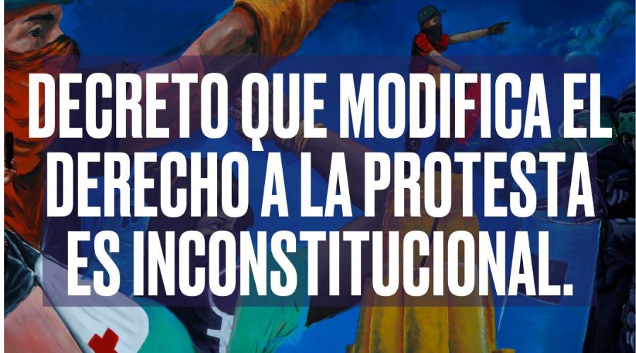 Modificación del decreto 003 de 2021 sobre el derecho a la protesta es inconstitucional