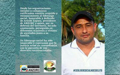 Comunicado de respaldo a Arnobi Zapata