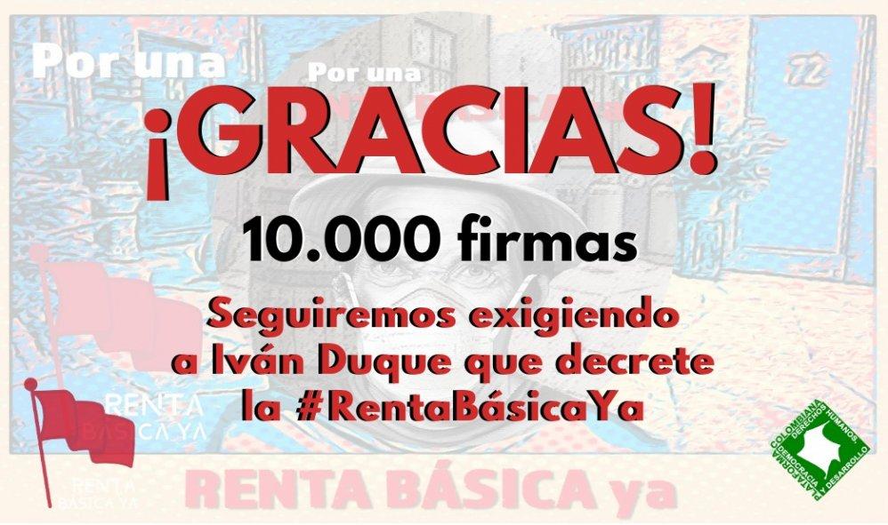 Petición por una #RentaBásicaYa supera las 10 mil firmas en un solo día