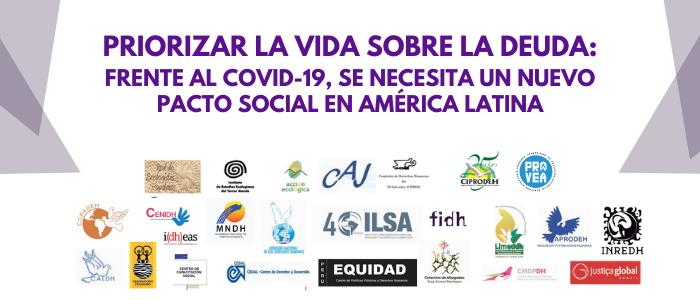 Priorizar la vida sobre la deuda: Frente al COVID-19