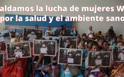 Respaldamos la lucha de mujeres Wayuu por la salud y el ambiente sano
