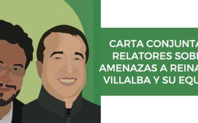 Carta conjunta a relatores sobre amenazas a Reinaldo Villalba y su equipo