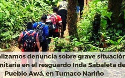 Actualizamos denuncia sobre grave situación humanitaria en el resguardo Inda Sabaleta