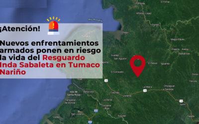 Nuevos enfrentamientos armados ponenen riesgo la vida de la comunidaddel Resguardo Inda Sabaletaen Tumaco,Nariño